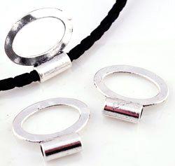 1 Schiebeperle Großloch Metall silber/platin 23mm Metall 16027