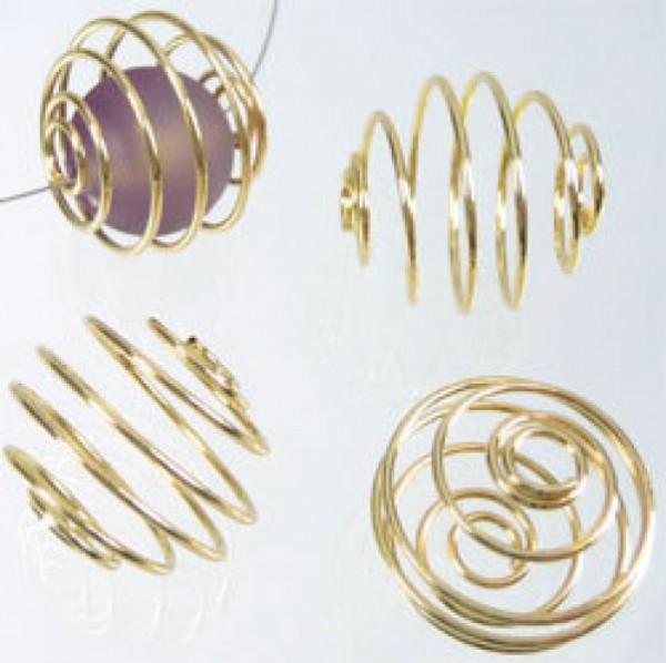 10 Wechselpiralen 20mm gold 05370
