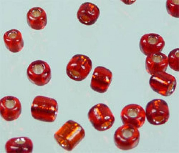 Rocailles 2mm 25g rot 2216