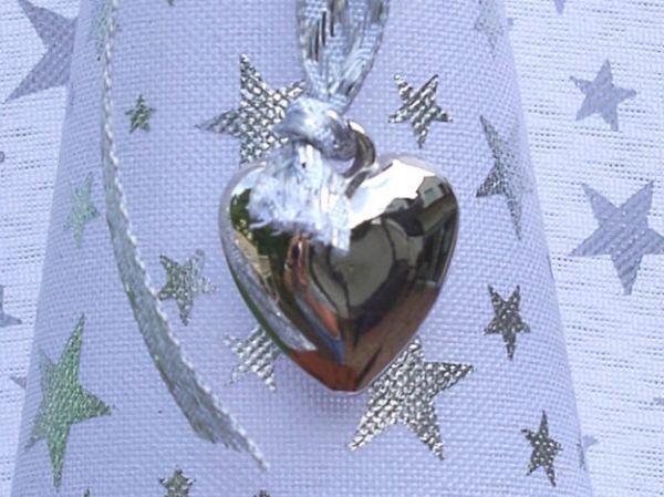 Anhänger Herz für Glücksengel silber Kunststoff 25mm