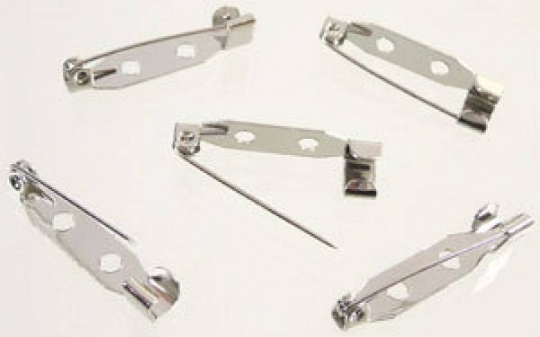10 Broschennadeln silber/platin 21mm Schmucknadeln 07893