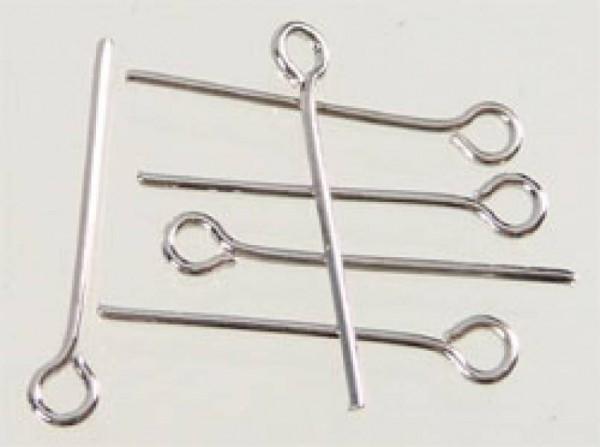 100 Kettelstifte silber/platin 32mm 07404
