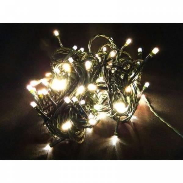 LED Lichterkette 180 Lämpchen warmweiß für innen und außen grünes Kabel
