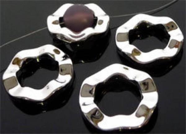 1 Spacer Kunststoff Zwischenteil silber 30mm Welle 05956
