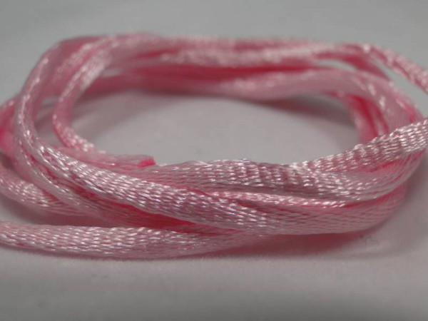 1m Seidenband 2mm rosa Kette Band