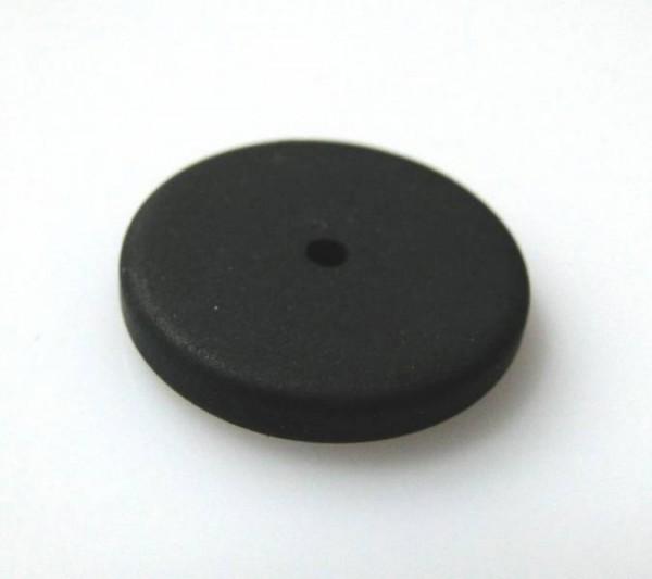 1 Polaris-Scheibe flach 16mm schwarz matt