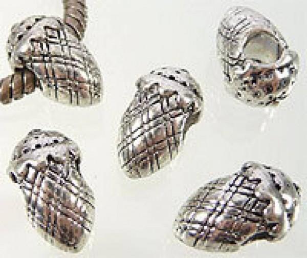 1 Bead silber Eichel 06521