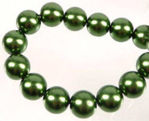 50 Glasperlen grün 8mm Perle 07282