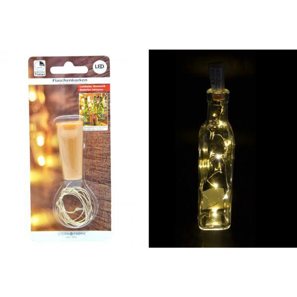 8er Korken Timer Led Lichterkette Draht Flaschenlicht Weinflasche