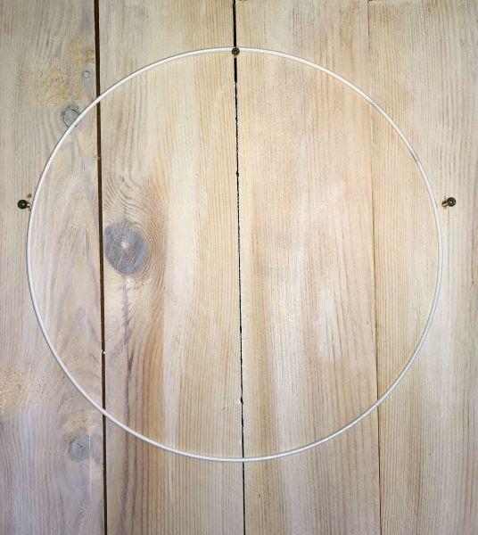 1 Metall - Form Ring 40cm weiß
