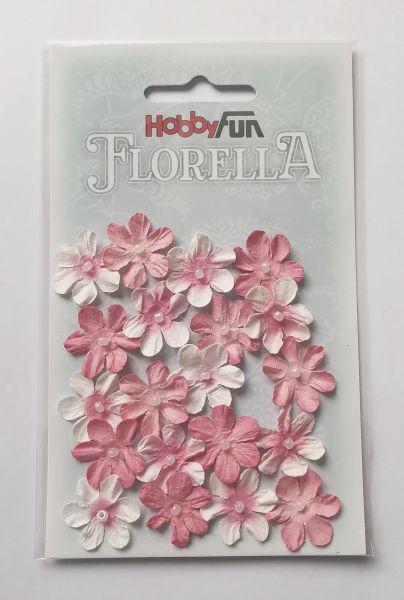 "20 Papierblüten rosenholz für Glücksfee ""Ida"""