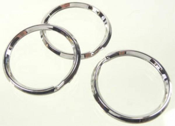 1 Schlüsselring 28mm silber/platin Metall Ring 07916