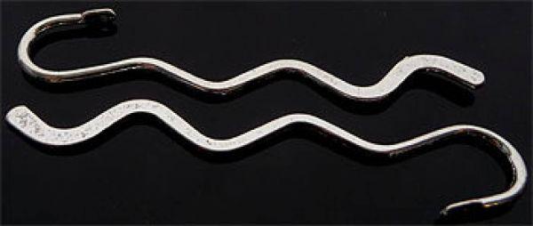 1 Lesezeichen 84mm gewellt silber/platin Metall 04494