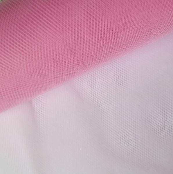 "1m Tüll rosa / transparent 15cm breit für Glücksfee ""Lotte + Ida"""