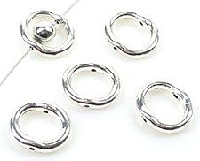1 Spacer Ring 15x13mm Metall silber/platin 15382