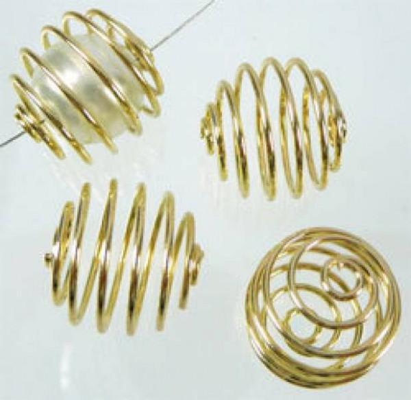10 Wechselpiralen 15mm gold 06533