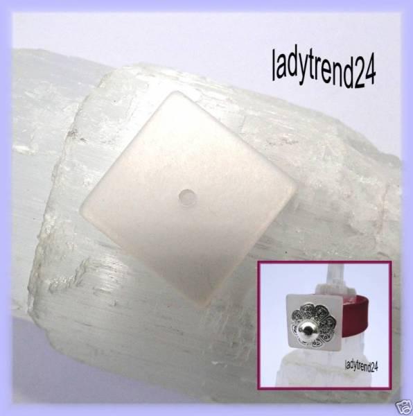1 Polaris Quadrat Scheibe 16mm weiß