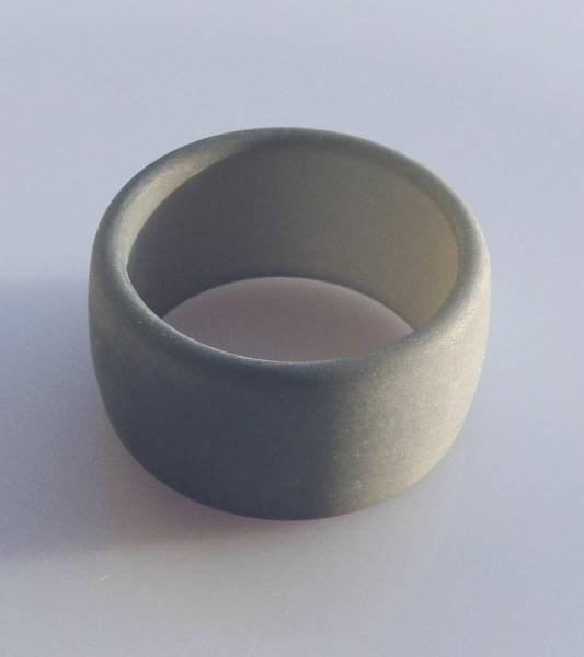 1 Polaris Fingerring 19mm weiß