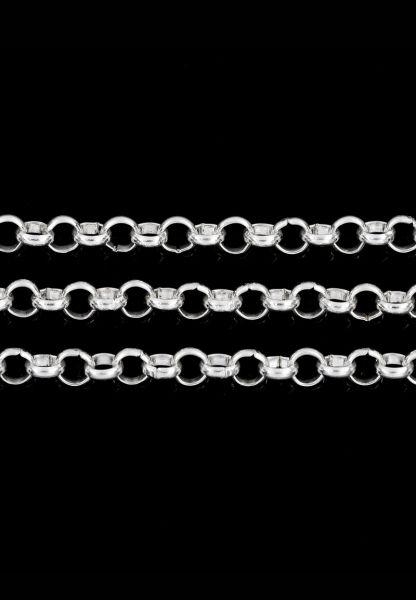 1 Jasseron Gliederkette 100cm silber 5mm 24507