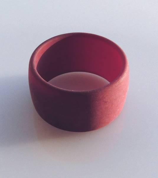 1 Polaris Fingerring 19mm bordeaux