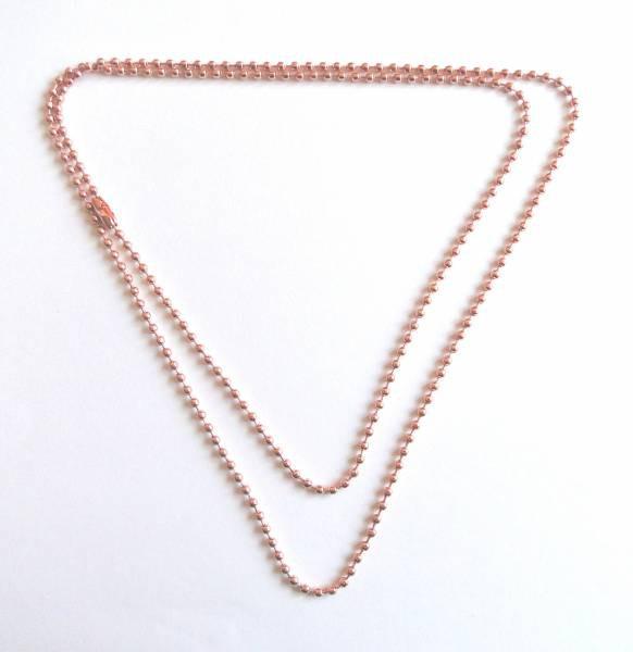 1 Kugelkette roségold 80cm Metall 16174
