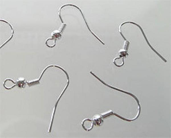10 Paar Ohrhaken 18mm silber 0134