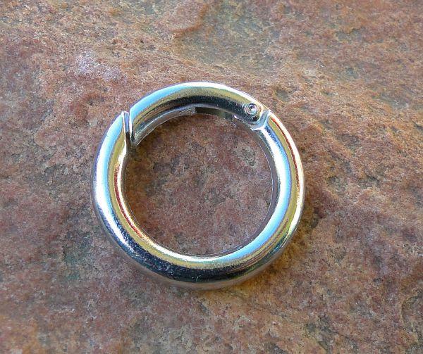1 Ring Verschluss für Charms 25mm silber/platin 14931