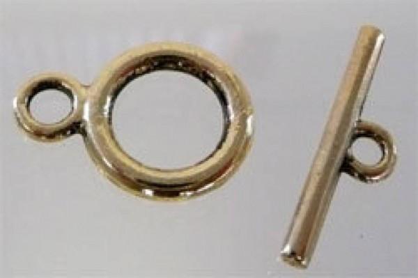 3 x Knebelverschluss Kette 22x14 gold 10635