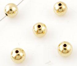 5 Metallperlen 8mm gold 12779