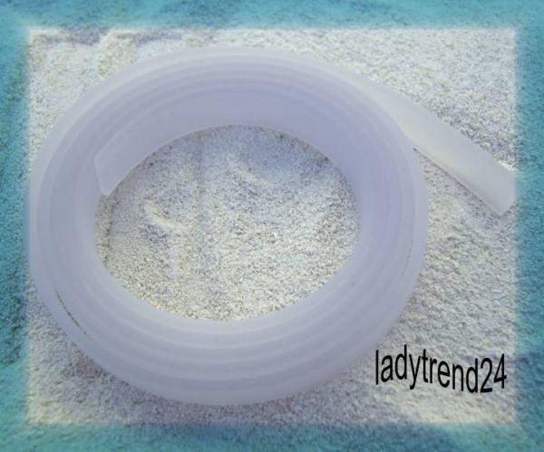 1m Kautschukband Wechselring Perle PVC Bead fuchsia 19