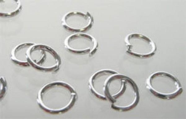 100 Spaltringe Zwischenring silber/platin 6mm Perle 07394