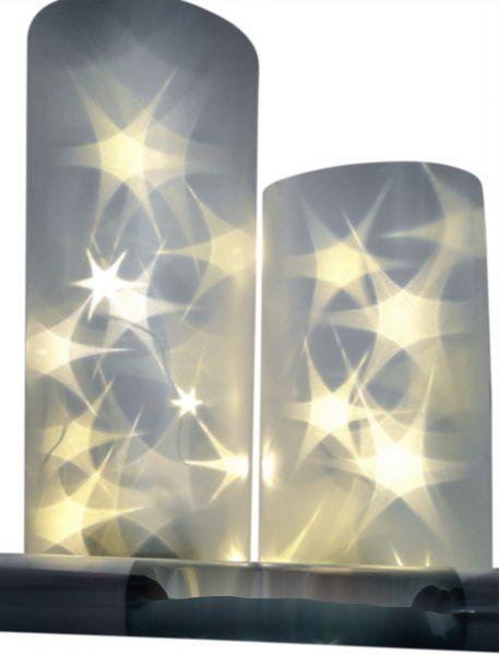Lichteffekt Folie 3D Stern Sterne Hologramm 33cm x 100cm