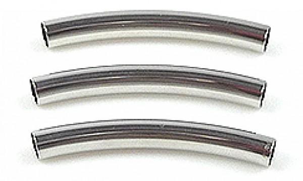 1 Großloch-Röhrchen 40mm silber/platin Bead 12220