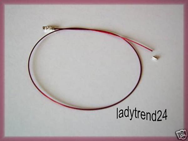 1 Edelstahlcollier rot einseitig offen 45cm 241