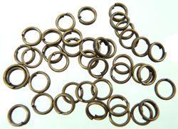 100 Spaltringe bronze 6mm Metall 02770