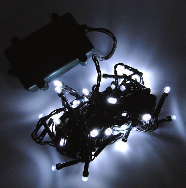 LED Lichterkette 48 Lämpchen + Timer + Batteriebetrieb kaltweiss