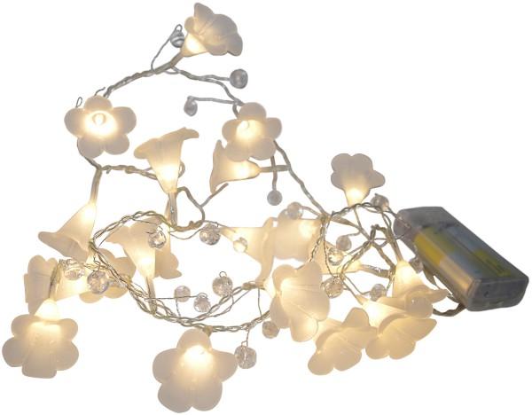 LED Lichterkette 20 Blüten-Kelche warmweißes Licht Batteriebetrieb