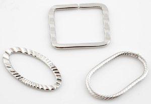 10 Spacer 3 Modelle Zwischenteil Metall silber/platin 14698