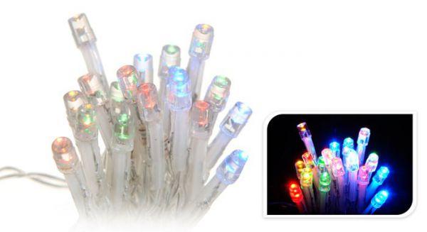LED - Mikro Lichterkette 20 Lämpchen bunt - Batterie