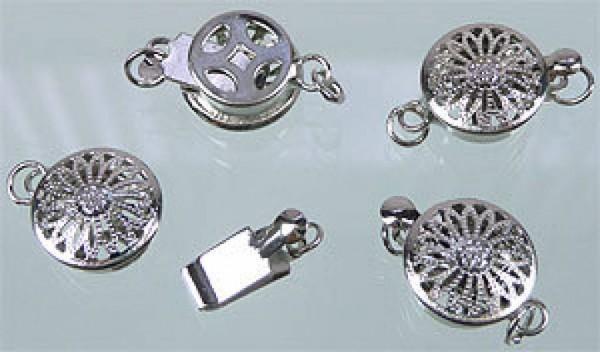 2 Verschlüsse für Perlenketten silber 04979