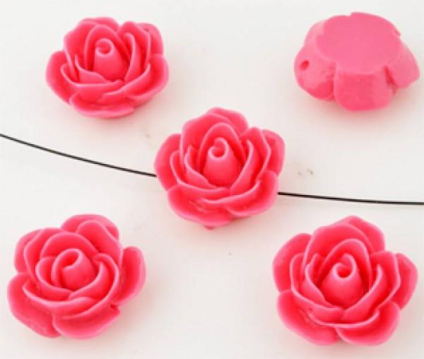 1 Rose 23x11mm rosa Kunststoff 09928