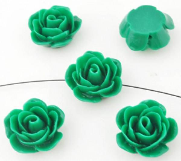 1 Rose 23x11mm grün Kunststoff 09926