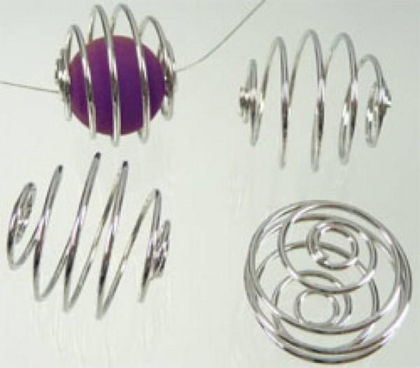 10 Wechselspiralen silber/platin Spirale 17mm 05957