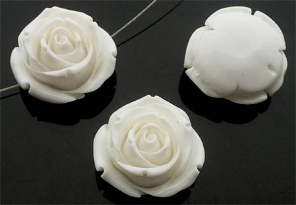 1 Rose 35mm creme weiß Kunststoff 10266