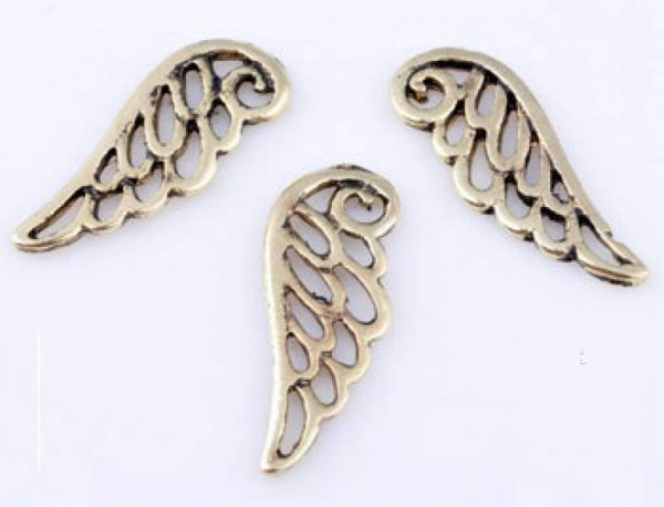 1 Flügel Engel 24x9mm gold 09456