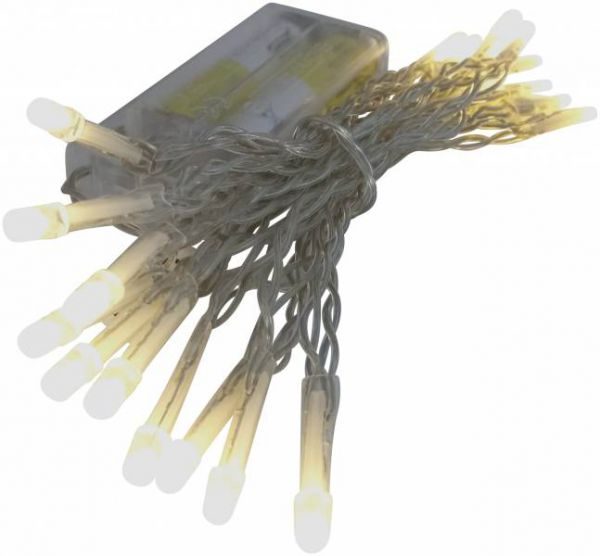 LED - Mikro Lichterkette 20 Lämpchen warmweiß - Batterie