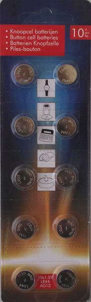 10 LR44 AG13 Batterien 1,5V Knopfzelle