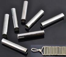 1 Großloch-Röhrchen 19mm silber/platin Bead 15514