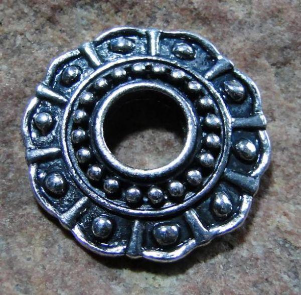 Ringscheibe antik silber 22mm