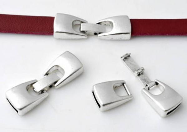 1 Verschluss 40 x13mm Metall silber/platin 11023